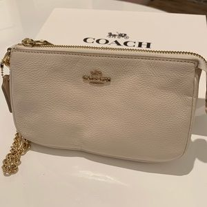Coach | White Leather Wristlet | Brand New!